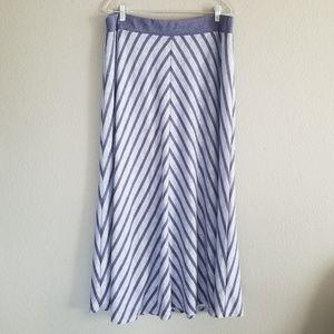 Lane Bryant Womens Striped Maxi Skirt